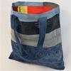 Matières recyclées : Tote bag 100% recyclé en jean doublé coton vintage