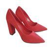 Escarpins à talons carrés Ideal Shoes rouges avec strass, neuf sans étiquette P.38
