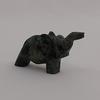 Sculpture  pierre sculpté de éléphant -Décoration Baba cool