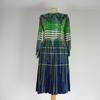 Robe de style années 1970 de couleur verte taille M