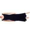 Robe longue vintage Femmes Maya Dany noire avec col à fourrure T.3
