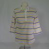 Polo à rayures bleues et jaunes- Armor lux - T1