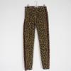 Pantalon marron imprimé leopard Zara Woman 36