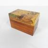 Boîte en bois de rangements de jeu cartes avec dessin