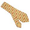 Cravate Hermès en soie jaune imprimé humoristique