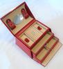 Windrose Merino Boîte à bijoux cuir rouge ( abîmée )