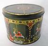Boite métallique décor Noel , H 14 cm ( vide )