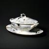Mini soupière sur plateau - Porcelaine - Marie Thérèse Schmitt