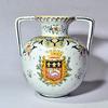 Vase boule avec anses - Faience de Rouen