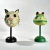 Lot de 2 figurines chat et grenouille