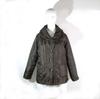 Manteau marron  foncé col châle  taille 42/44