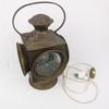Lampe lanterne à hublots en cuivre et verre