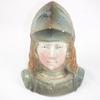 Ancienne tirelire à casser buste de Jeanne d'arc numéroté 1506