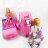 Voiture, remorque, chevaux, poupée Barbie et accessoires
