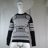 Pull noir et blanc motif aztèque  ZARA taille L