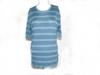 Pull bleu rayé manche  courte en laine taille 4