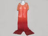 Robe transparente  orange dégradé 1,2,3 taille 40