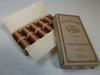 Boite Ancienne de 10 Bobines de fil marron retors brillanté