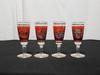 Lot de 4 verres à liqueur en verre motif Vénézia
