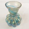 Ancien petit vase Vintage multicolore en verre irisé