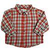 Chemise Obaïbi 6 mois à carreaux rouges et gris