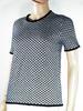 T-Shirt Femme Bleu Marine/ Blanc ZARA T M.