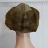 Chapeau cuir et fausse fourrure