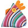Poule Berlingot Tissu Bayadère Multicolore 10x9cm