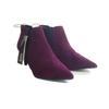 Neuf & étiquette Boots bottines Monoprix P 37 aubergine à talons aiguilles