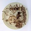 Assiette céramique fine faïence CORSICA décor PORTIGLIOLO