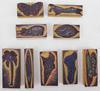 Tampons à Encre 3-4 cm x 7-9 cm - Lot de 9 Animaux, Arbres & Fleurs