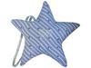 Etoile de Noel tissu bleu