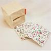 Zéro-déchet : Lot de 7 lingettes démaquillantes lavables en bambou Oeko-Tex GOTS (fleurs) + cube de rangement