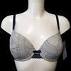 Neuf & étiquette soutien gorge Lou pour Monoprix 90D lingerie imprimée bleue