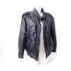 Blouson en cuir noir patiné - Taille 50
