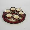 Assiette + 6 petites tasses à eau de vie Jean de Bretagne