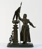Statuette de Jeanne d'Arc en régule