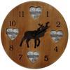 Horloge porte photos en bois