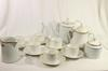 Service à café en porcelaine fine de Limoges Chastagner