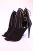 Chaussures noir à talons avec franges style western