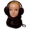 Neuf & étiquette écharpe + cache oreille Monoprix Kids en fourrure synthétique grenat