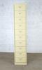 Armoire courrier 10 tiroirs  en métal  42x35x198cm - Jaune