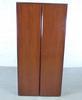 Armoire haute porte battante  en bois  87x43x175cm - Marron et Noir