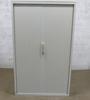 Armoire à rideaux haute Steelcase en métal  120x43x200cm - Blanc