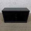 Armoire à rideaux basse  en métal  43x120x70cm - Noir
