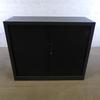 Armoire mi-haute à rideaux  en métal  100x120xcm - Noir