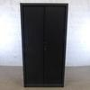 Armoire à rideaux haute  en métal  43x100x200cm - Noir