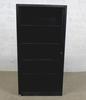 Armoire à rideaux haute  en métal  43x100x200cm - Noir et Noir