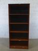 Meuble rangement   en bois finition noyer 80x45x180cm - Marron et Noir