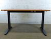 Bureau 120cm IKEA en mélamine - métallique  120x80x70cm - Marron et Gris